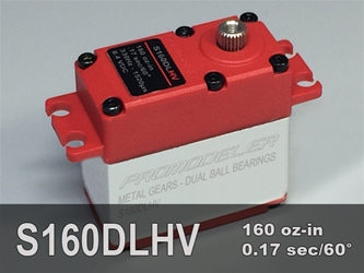 160oz-in, Std, 3-pole ProModeler, reliable, high torque, digital servo, metal gears, dual ball bearings, waterproof high voltage, servo for remote control models