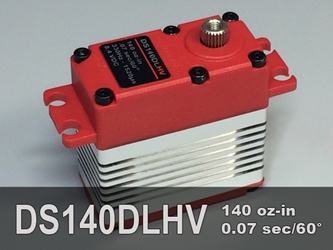 140oz-in, Std, 3-pole ProModeler, reliable, high torque, digital servo, metal gears, dual ball bearings, water-resistant, high voltage, servo for remote control models