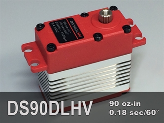 90oz-in, Std, 3-pole ProModeler, reliable, high torque, digital servo, metal gears, dual ball bearings, water resistant, high voltage, servo for remote control models