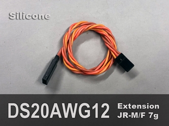 Extension, Servo, 20AWG, 12""